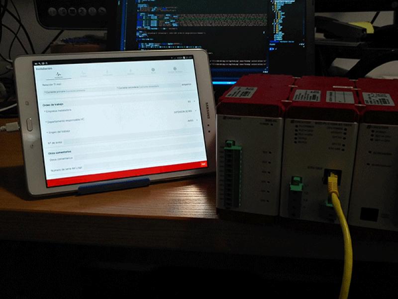 Desarrollo App Android toma de datos de equipos de red eléctrica.